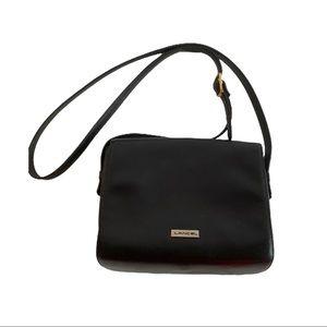Vtg Lancel Paris Crossbody Bag Black Made In Italy
